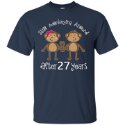 27th Anniversary T-shirt Funny Monkey Couples Photo Shirt – T-Shirt