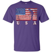 American Flag Golf Shirt, USA Gift, Golf Team Gift – T-Shirt