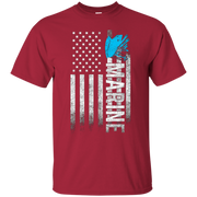 American Marine War USA Flag Proud Freedom Semper Fi T-Shirt