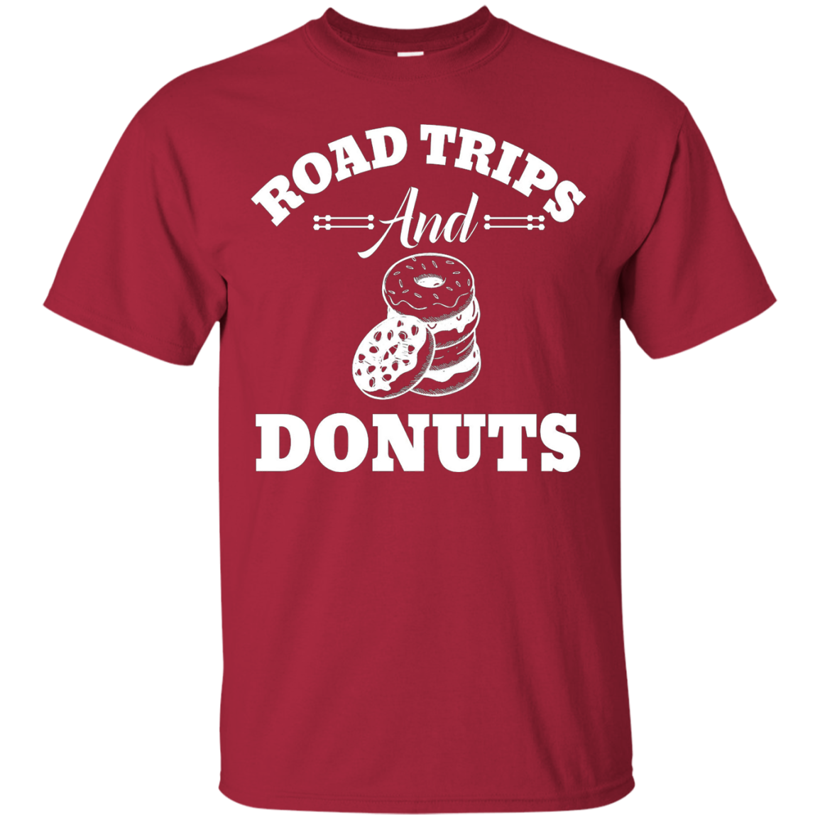 Road Trips And Donuts Funny Road Trip Travel T-Shirt