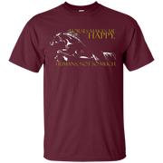 """""""Horses makes me happy. Humans, not so much"""" T-Shirt"""
