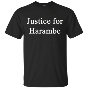 """Justice for Harambe"" shirt (Custom printed tee) – T-Shirt"