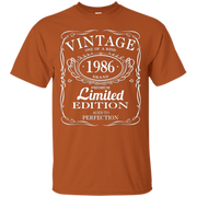 30th Birthday Gift Vintage 1986 Limited Edition T-Shirt