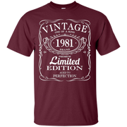 35th Birthday Gift Vintage 1981 Limited Edition T-Shirt