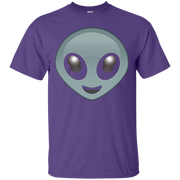 Alien Emoji Face T-shirt Emoticon Martian UFO Smile Tshirt – T-Shirt