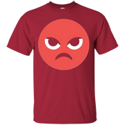Angry Emoji T-Shirt Mad Upset Evil Red Steaming Pissed Off