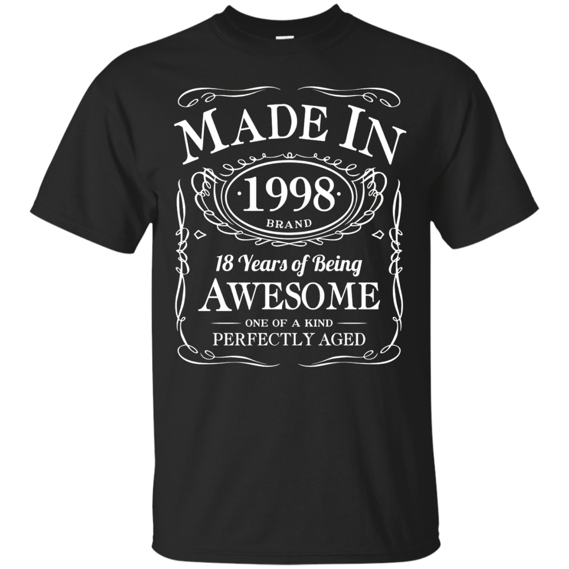 18th Birthday Gift Made In 1998 Awesome Black – T-Shirt