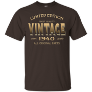 76th BIRTHDAY Gift 1940 VINTAGE T-shirt 76 Year Old Bday Tee – T-Shirt