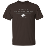 A. Malcolm Printer and Bookseller – T-Shirt