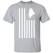 American Flag Stripes – The States of MAINE T-shirt – T-Shirt
