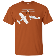 Airplane Blueprint Mechanical Drawing Biplane Diagram Tshirt – T-Shirt