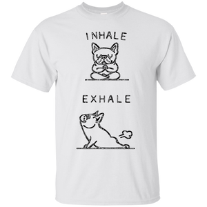 Yoga Tshirts – French Bulldog Yoga Funny Shirt – T-Shirt