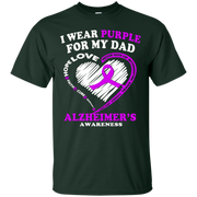 Alzheimers Awareness Shirt – I Wear Purple For My Dad – T-Shirt
