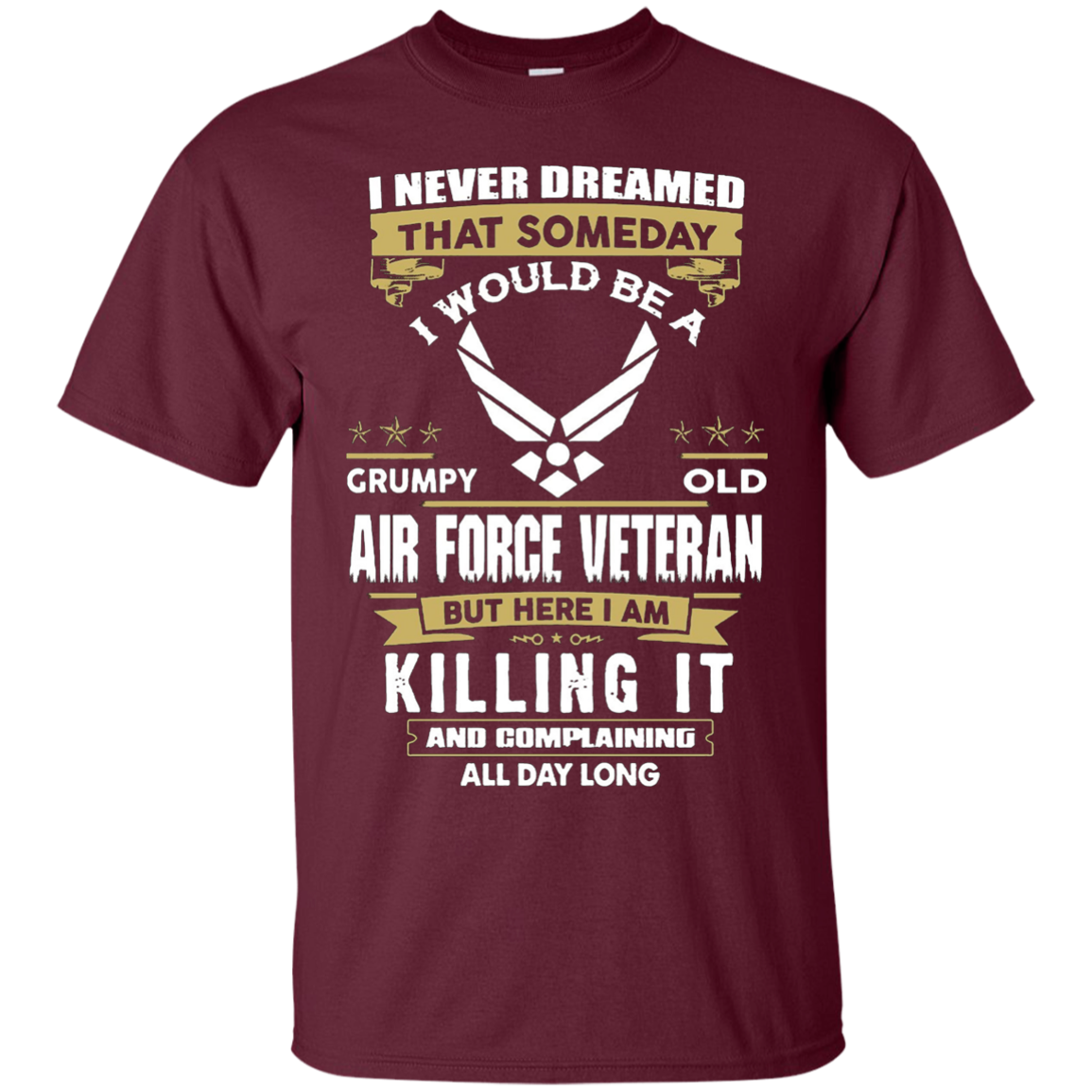 grumpy old air force veteran T-shirt - T-Shirt