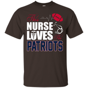 Womens Sports Gear Football Tshirt Nurse Loves The Patriots – T-Shirt