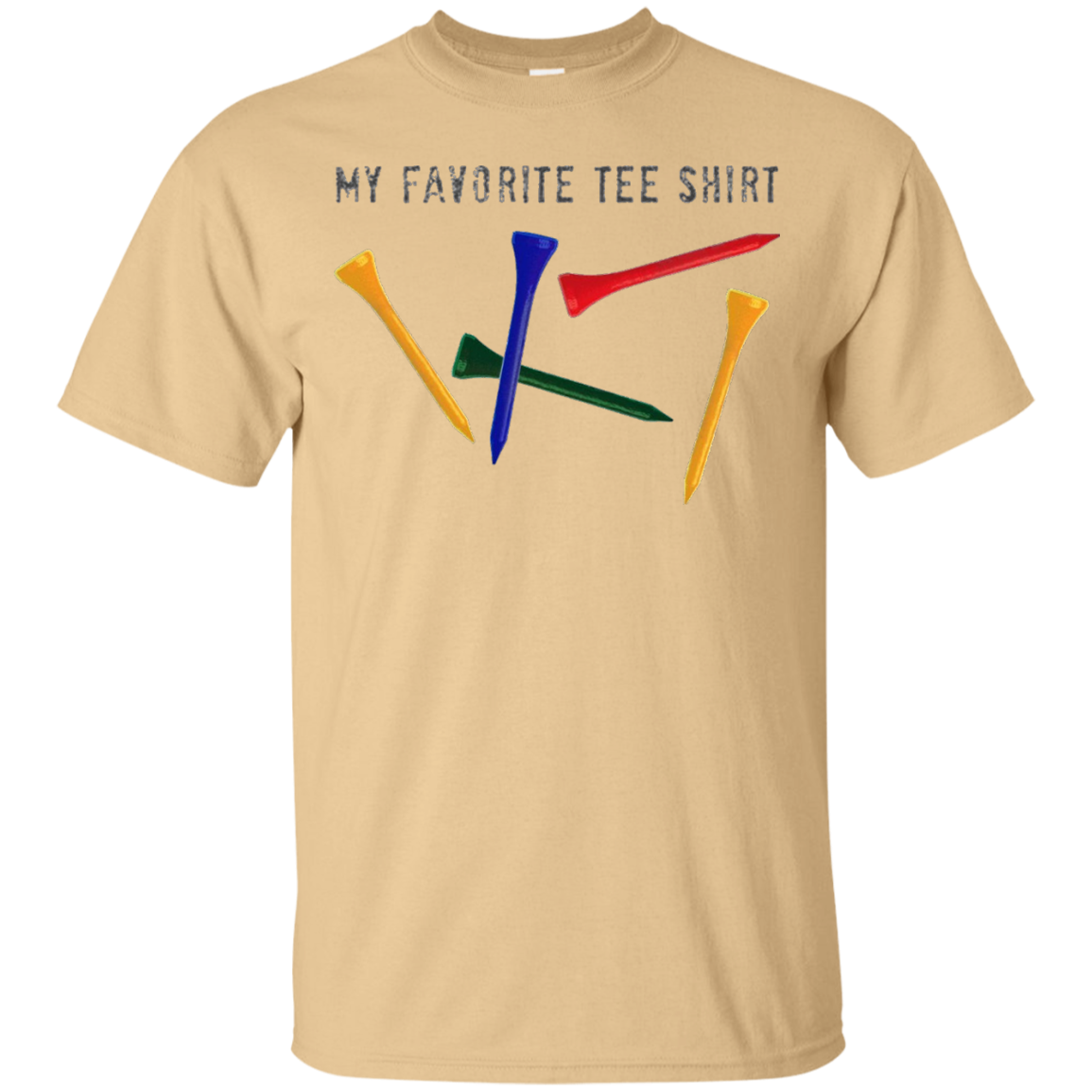 "Cool Golf Golfer's Golfing T-shirt ""My Favorite Tee Shirt"" - T-Shirt"