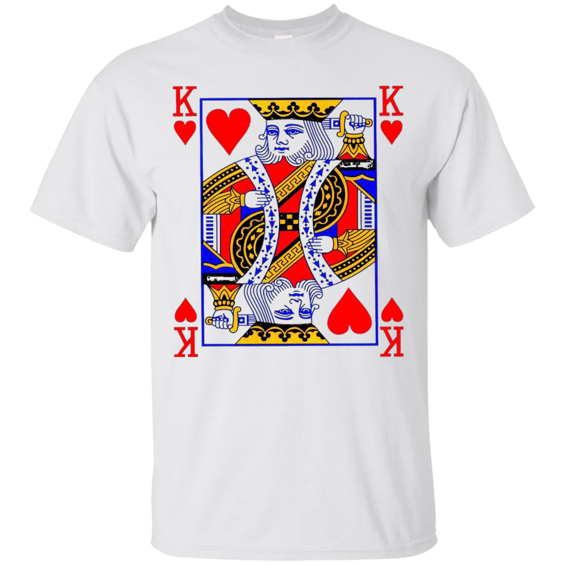 King of Hearts Playing Card Poker Card Costume Tee Shirt - T-Shirt