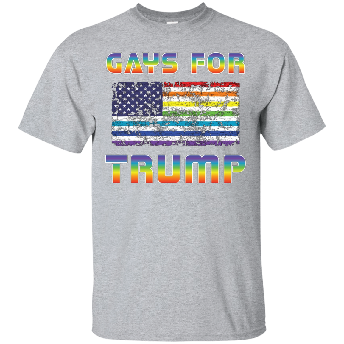 Gays LGBT for Donald Trump US Flag President 2016 T-Shirt