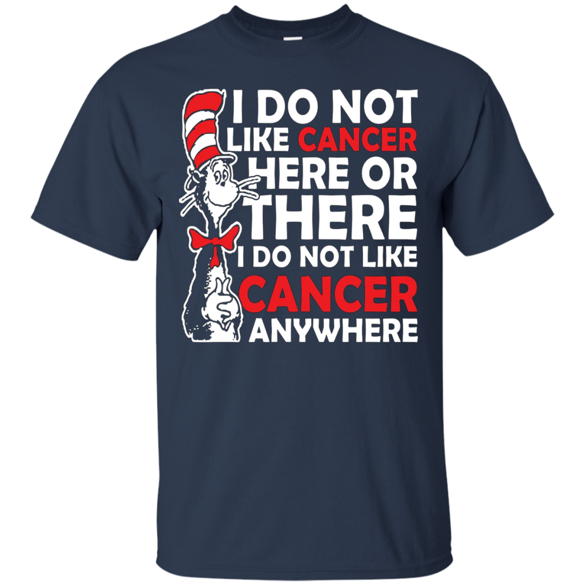 I do not like cancer here or there I do not like Cancer... - T-Shirt