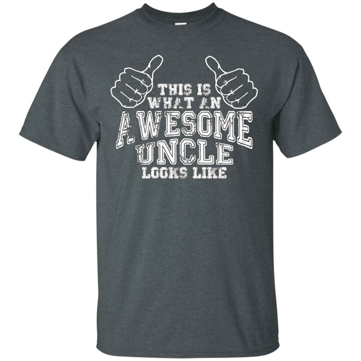 This Is What An Awesome Uncle Looks Like T Shirt slogan funn - T-Shirt