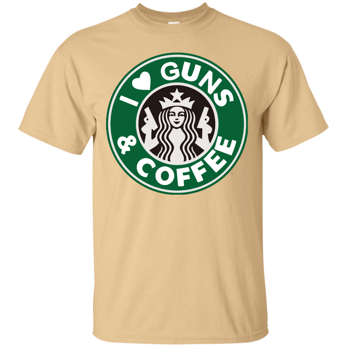 I Love Guns and Coffee T Shirt - T-Shirt