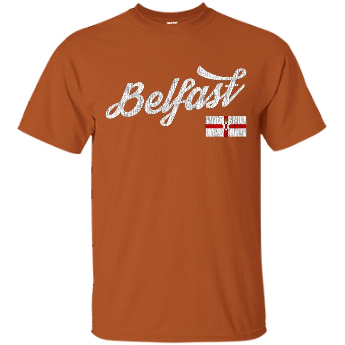 Belfast Northern Ireland Flag City Distressed T-Shirt