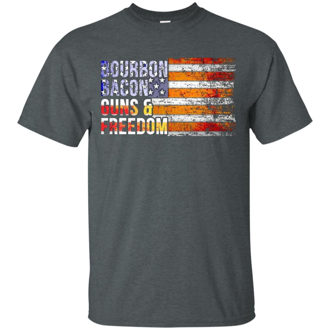 Bourbon Bacon Guns and Freedom T-Shirt