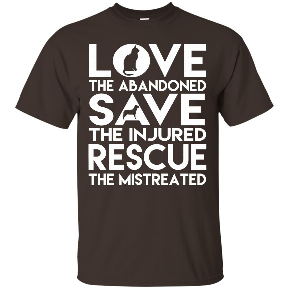 Dog Rescue Tee Animal Cat Rescue Shirt Love The Abandoned - T-Shirt