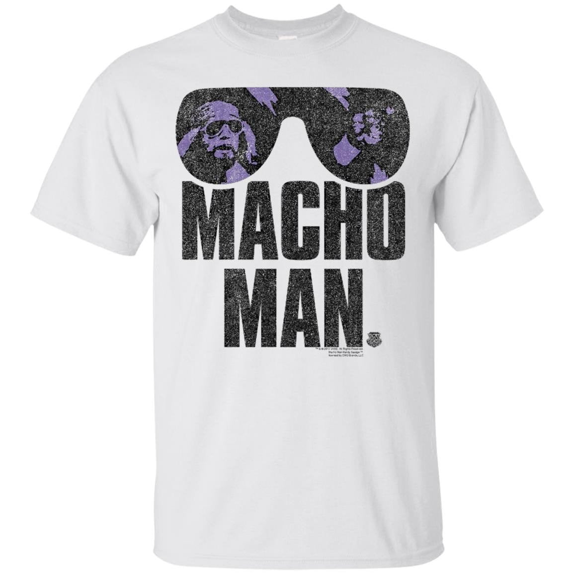 WWE Macho Man Classic Distressed Sunglasses - T-Shirt