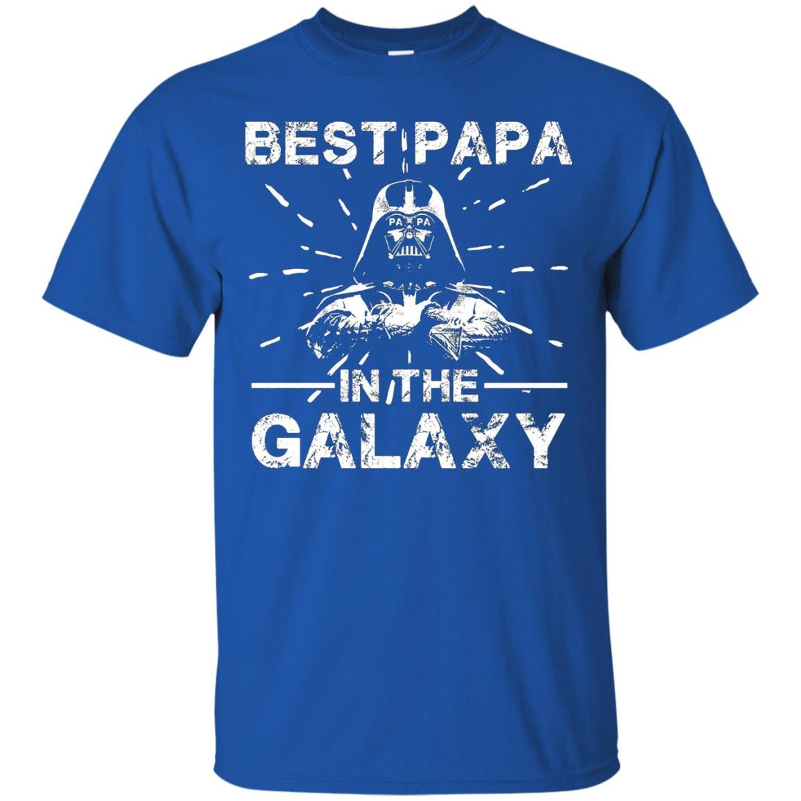 Men's Men's Father's Day Best Papa In The Galaxy T-shirt Son Gifts - T-Shirt