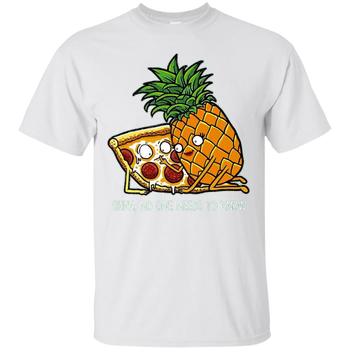 Pineapple Pizza Shirt - Funny Pepperoni Pizzas TShirts - T-Shirt