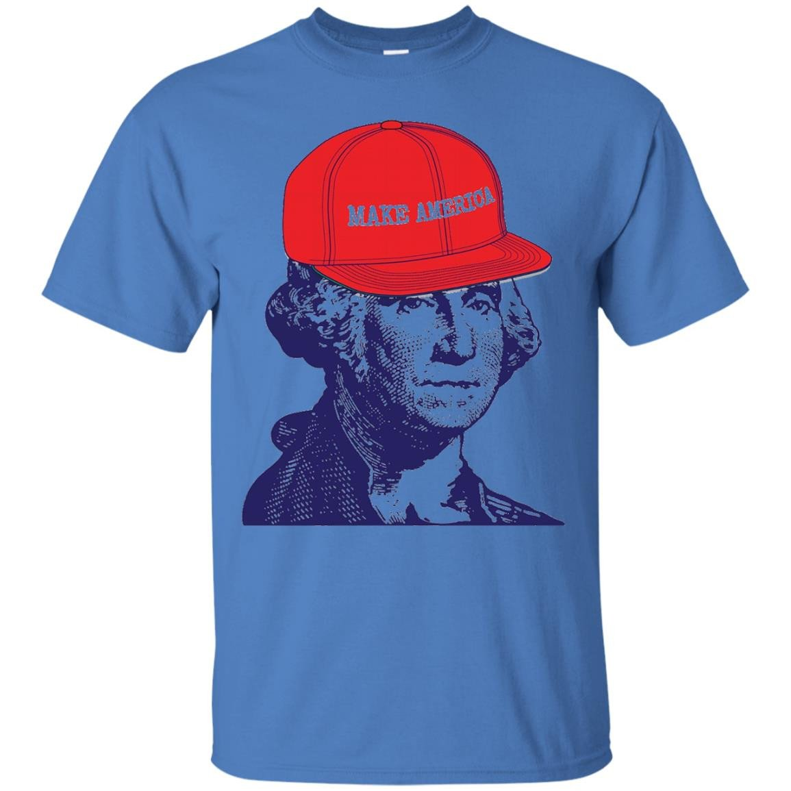 George Washington Make America 4th of July Funny T-Shirt