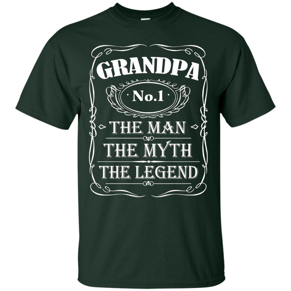Mens Grandpa The Man The Myth The Legend Gift Father's Day shirt - T-Shirt