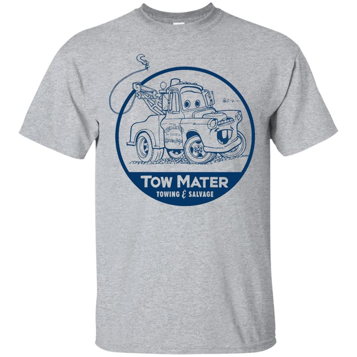 Disney Pixar Cars Tow Mater Salvage Badge Graphic T-Shirt