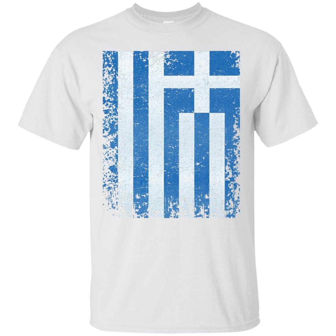 Greece Flag T-Shirt Distressed Vintage Greek Flag Shirt