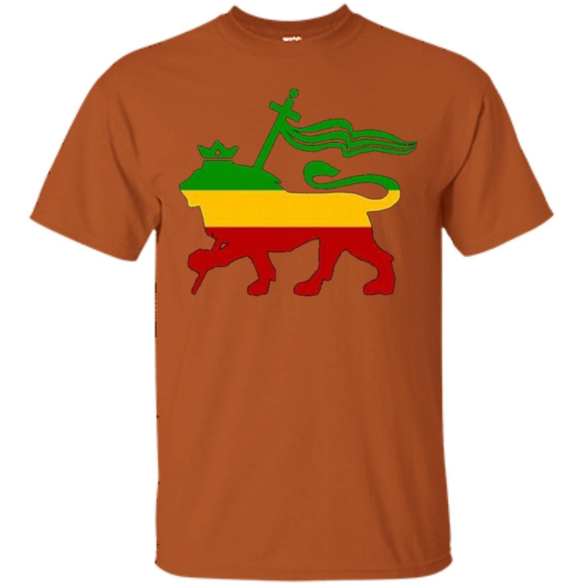 Double Sided Shirt Lion Of Judah Rasta Reggae Roots Clothing - T-Shirt