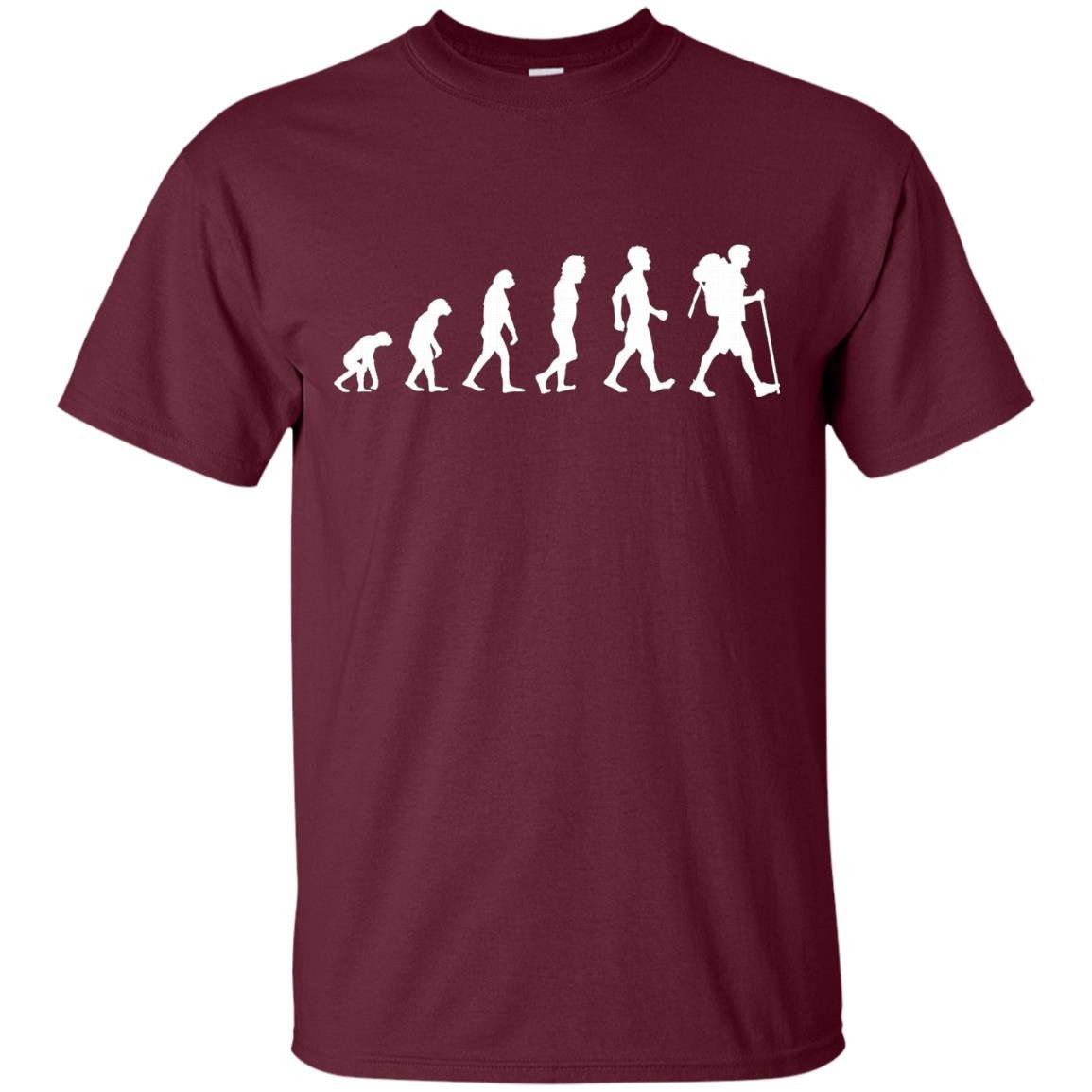 Evolution Of Hiker Funny Hiking Camping T Shirt Gift - T-Shirt