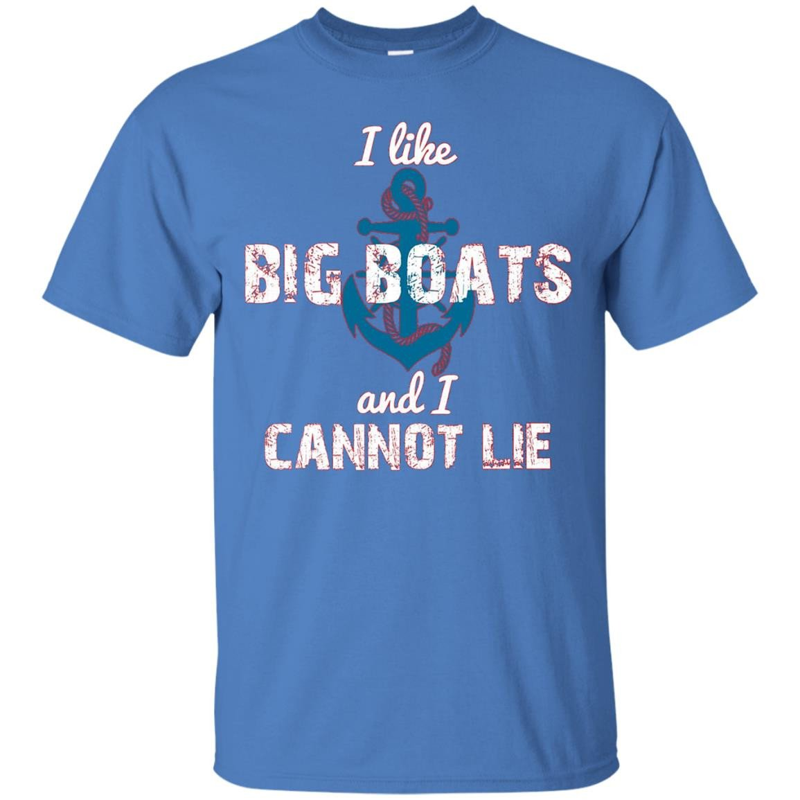BBTee I like Big Boats and I Cannot Lie - Anchor T-Shirt
