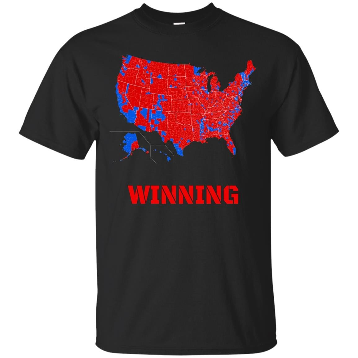 Donald Trump Winning Electoral Map T-Shirt - MAGA
