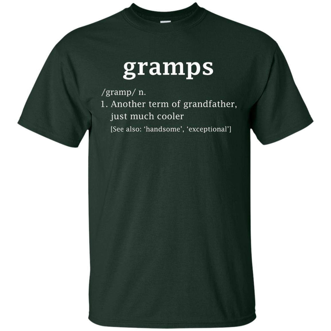 Gramps Definition Funny Gift For Grandfather T Shirt - T-Shirt