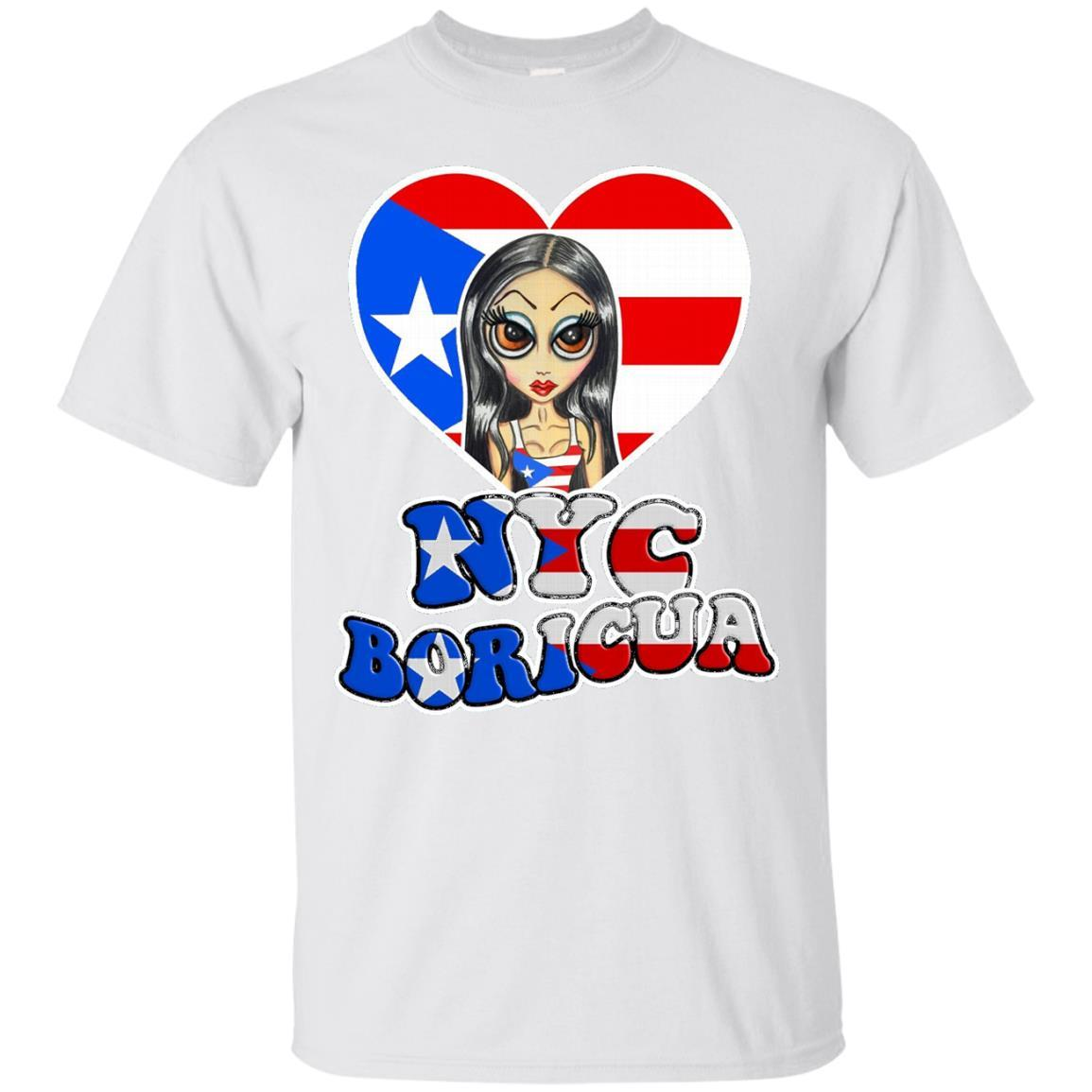 NYC Boricua Cute Girl Drawing Puerto Rican Day Parade Tee - T-Shirt