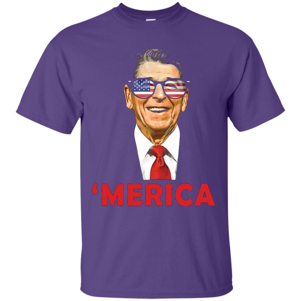 'Merica Ronald Reagan Patriotic Sunglasses USA Funny T-Shirt