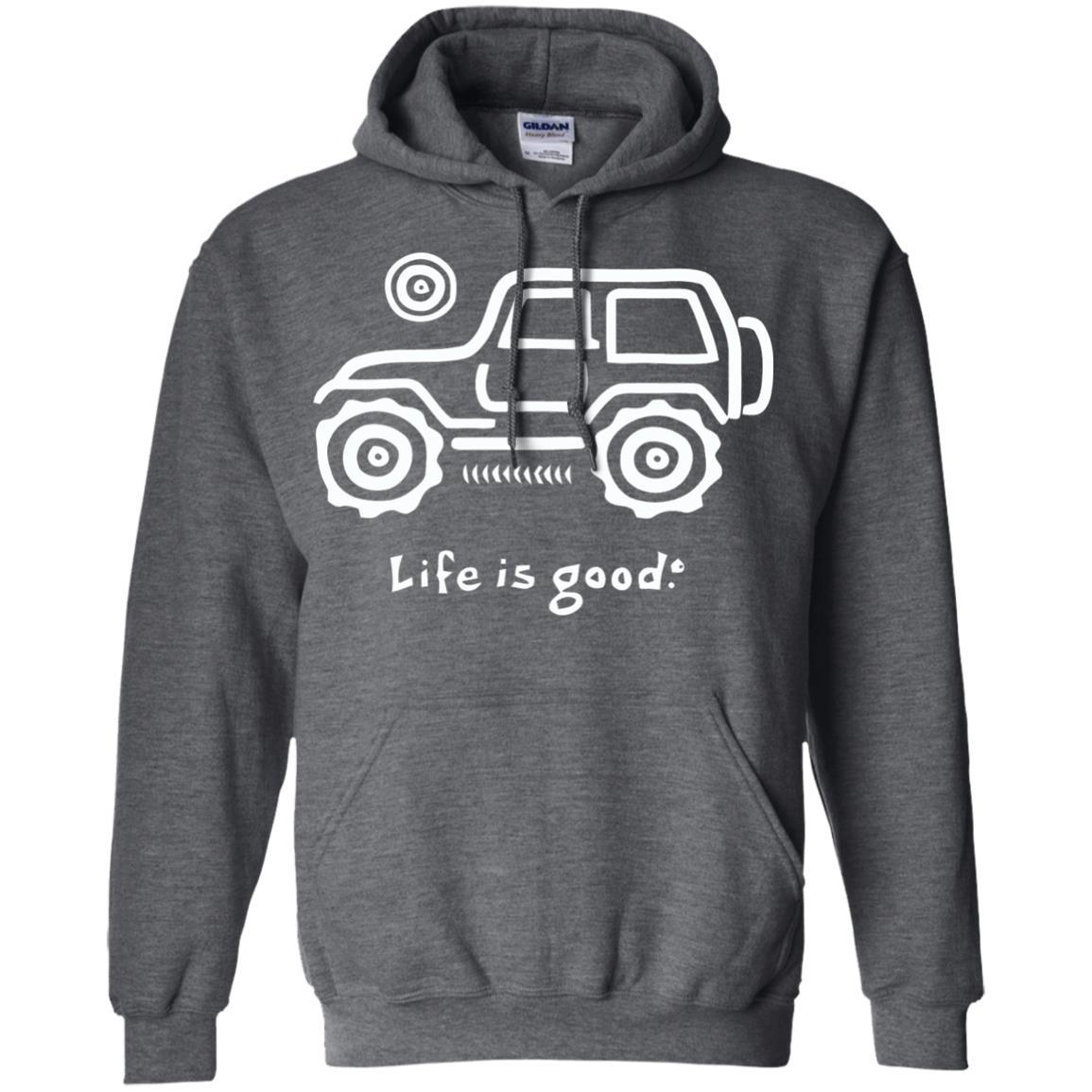 Life is good Jeep t-shirt mens, Jeep Hair tee