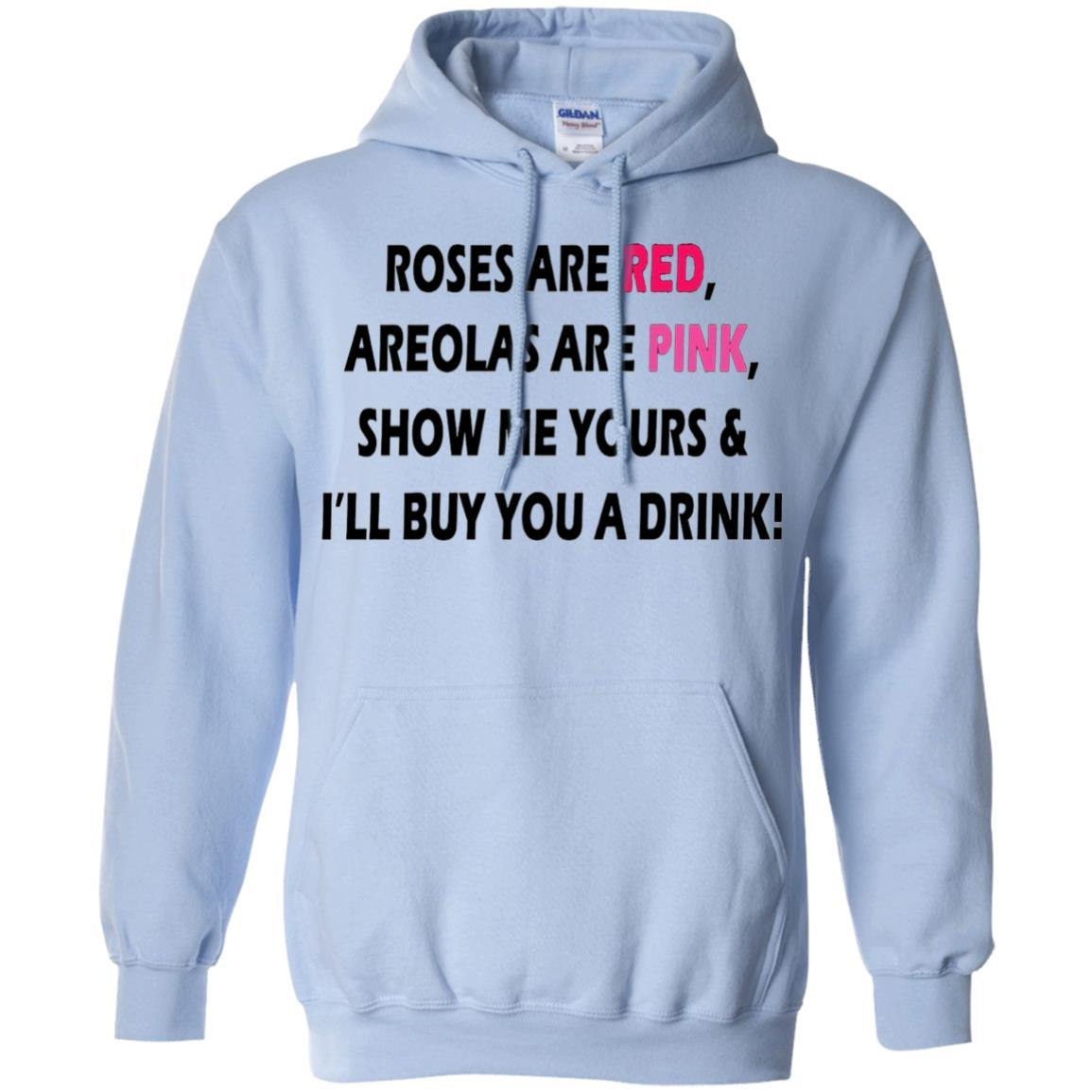 Roses Are Red Areolas Are PInk Funny Viral T shirt