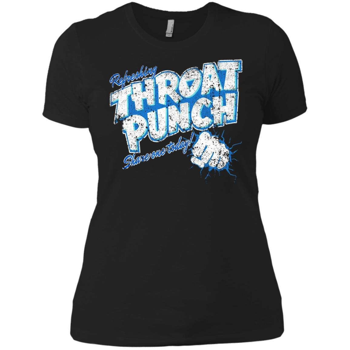 Refreshing Throat Punch Grunge Ladies' Boyfriend T-Shirt Style / Color / Size
