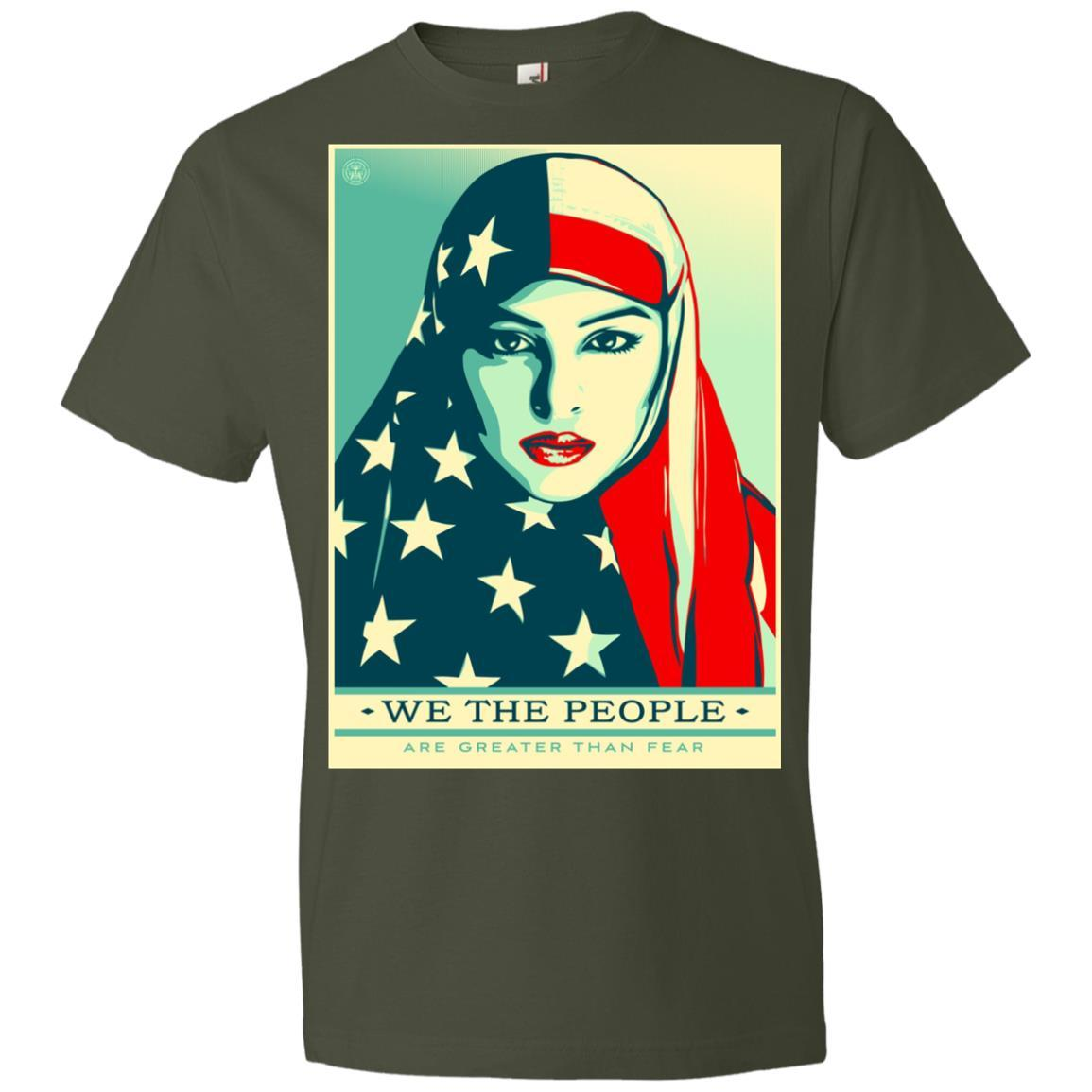 we the people are greater than fear - Anvil Lightweight T-Shirt Style / Color / Size