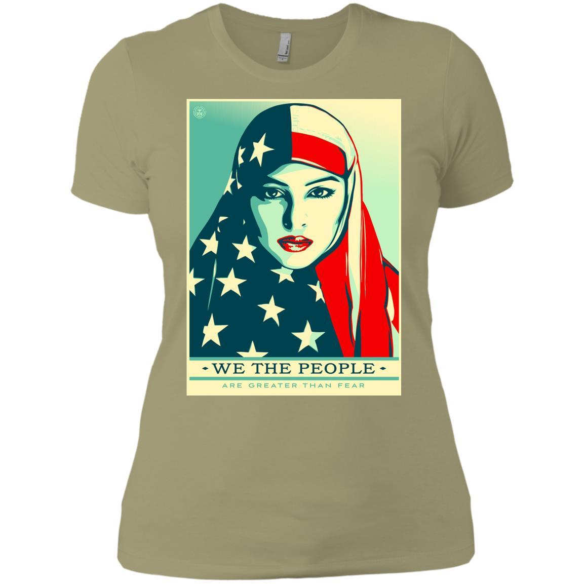 we the people are greater than fear - Ladies' Boyfriend T-Shirt Style / Color / Size