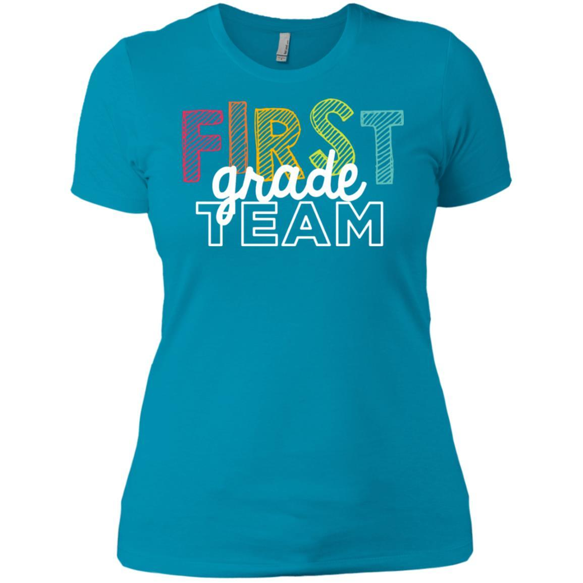 First Grade Team Shirts - Ladies' Boyfriend T-Shirt Style / Color / Size