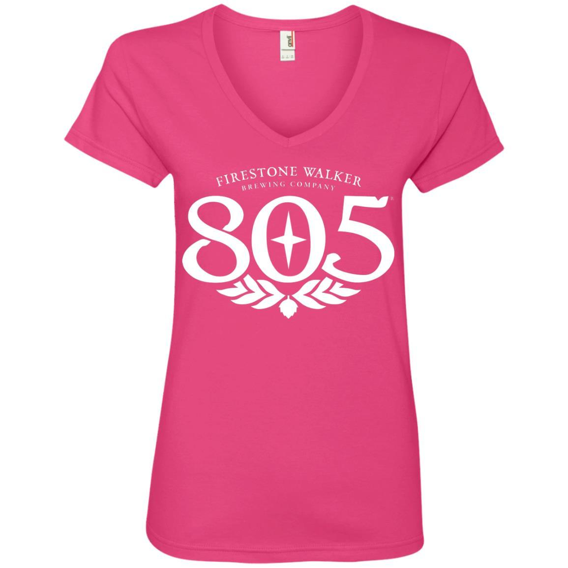805 Beer - Anvil Ladies' V-Neck T-Shirt Style / Color / Size