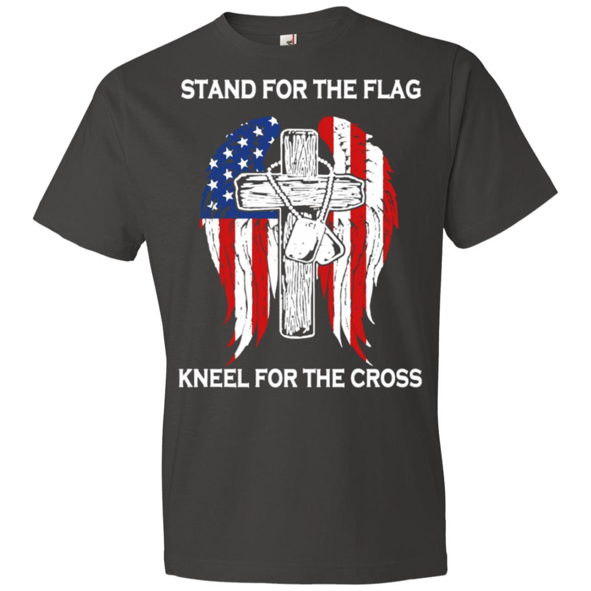 Stand For The Flag Kneel For The Cross - Anvil Lightweight T-Shirt Style / Color / Size